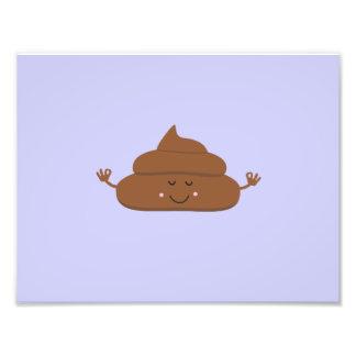 Meditating poo photograph