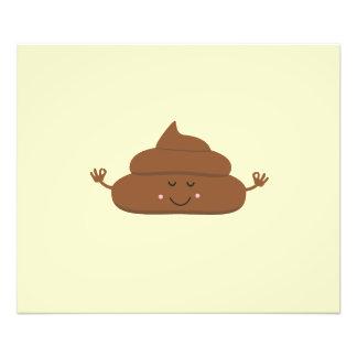 Meditating poo photographic print