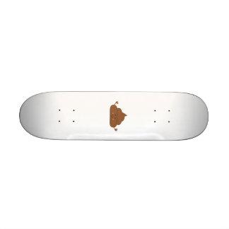 Meditating poo skateboard deck