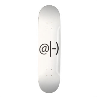 meditating smile.ai skate board deck