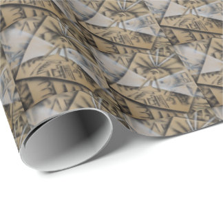 Meditation Abstract in Black and White Wrapping Paper