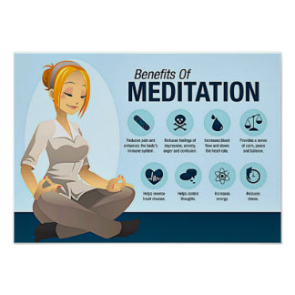 Meditation Benefits Poster