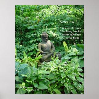 Meditation Buddha Garden Poster