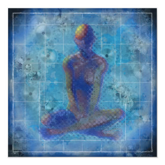 "Meditation by T.Orr 5.25"" Square Card & Envelope 13 Cm X 13 Cm Square Invitation Card"