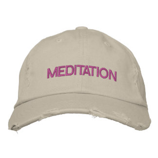 MEDITATION cap Embroidered Baseball Caps