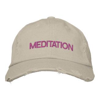 MEDITATION cap Embroidered Hat