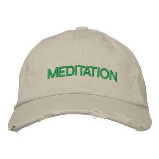 MEDITATION cap Embroidered Baseball Cap