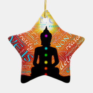 Meditation Ceramic Star Decoration