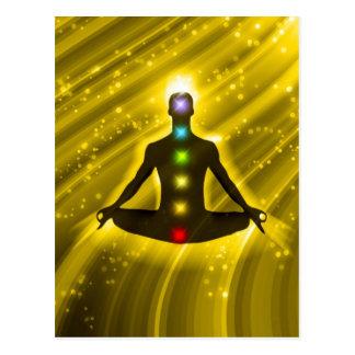 Meditation Chakras Postcard