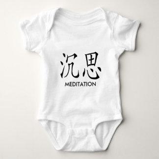 MEDITATION CHINESE SYMBOL BABY BODYSUIT