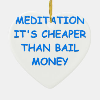 meditation christmas tree ornaments