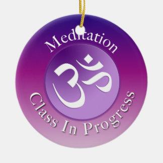 Meditation Class Door Hanger Round Ceramic Decoration