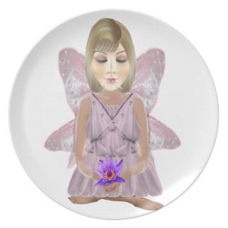 Meditation Fairy with Lotus Plate