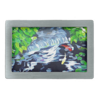 Meditation Garden Rectangular Belt Buckles