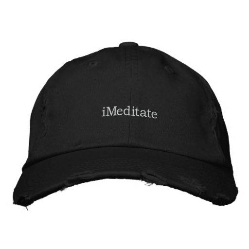 meditation hat embroidered baseball caps
