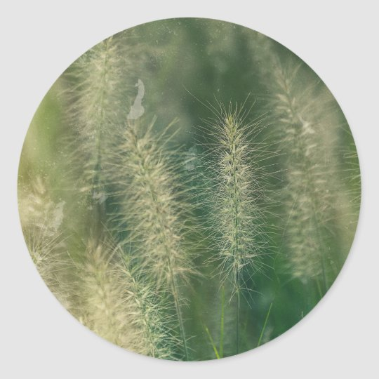 Meditation in Green Classic Round Sticker
