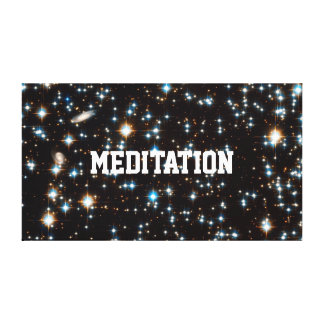 MEDITATION IN HYPERSPACE CANVAS PRINT
