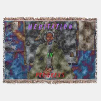 Meditation In Progress - Meditation Blanket