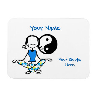 Meditation Karma Fridge Magnet