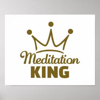 Meditation King Poster