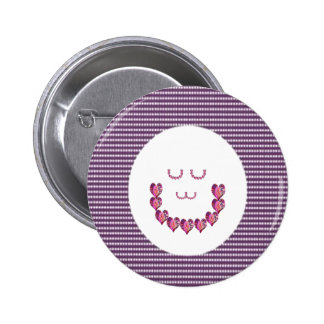 Meditation LADY art made of Pure HEARTS 6 Cm Round Badge