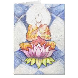 Meditation Lotus Greeting Card