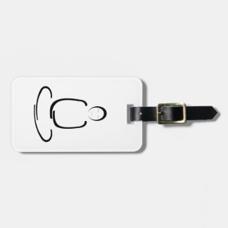 Meditation Man Black Luggage Tag