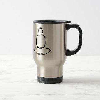 Meditation Man Black Travel Mug