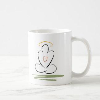 Meditation Man Zen-Inspired Artwork Standard-Size Basic White Mug