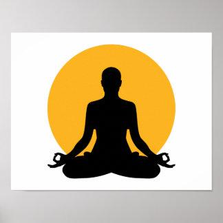 Meditation moon poster