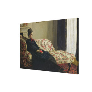 Meditation, or Madame Monet on the Sofa, c.1871 Gallery Wrap Canvas