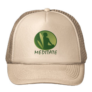 Meditation Pose Green Soft Gradient Cap