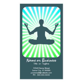 meditation : retro rays business card