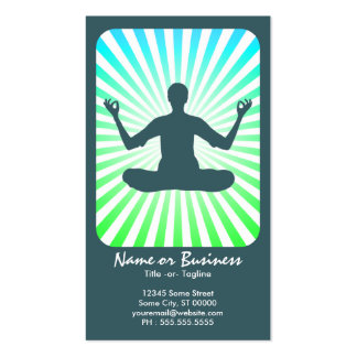 meditation : retro rays business card