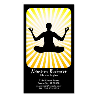 meditation : retro rays business cards