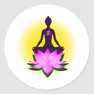 Meditation Round Sticker