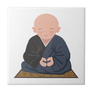 Meditation Small Square Tile