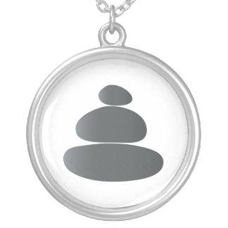 Meditation Stones Round Pendant Necklace