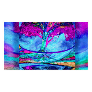 Meditation Tree of Life in Purple Pack Of Standard Business Cards