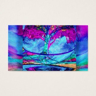 Meditation Tree of Life in Purple Business Card