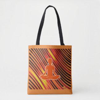 Meditation Vibes (Orange) Tote Bag