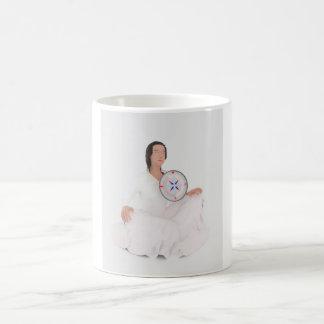 Meditation Woman Basic White Mug