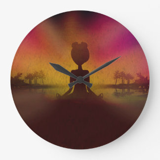 Meditation Yoga Acrylic Wall Clock
