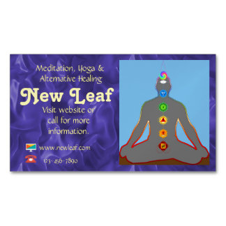 Meditation, Yoga and Alternate Health Magnetic Business Cards
