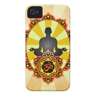 Meditation Yoga Aum, orange and yellow iPhone 4 Covers
