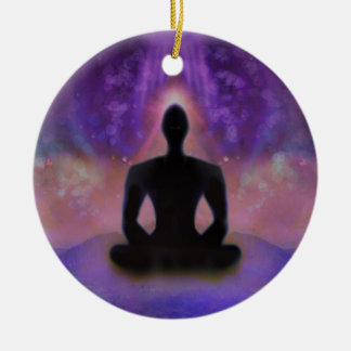 Meditation Yoga Decoration Round Ceramic Decoration
