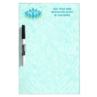 Meditation Yoga Lotus Flower Zen | Text Template Dry Erase Board