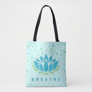 Meditation Yoga Lotus Flower Zen | Text Template Tote Bag
