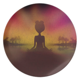 Meditation Yoga Melamine Plate