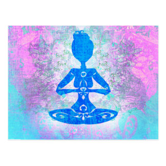 Meditation Yoga Postcard